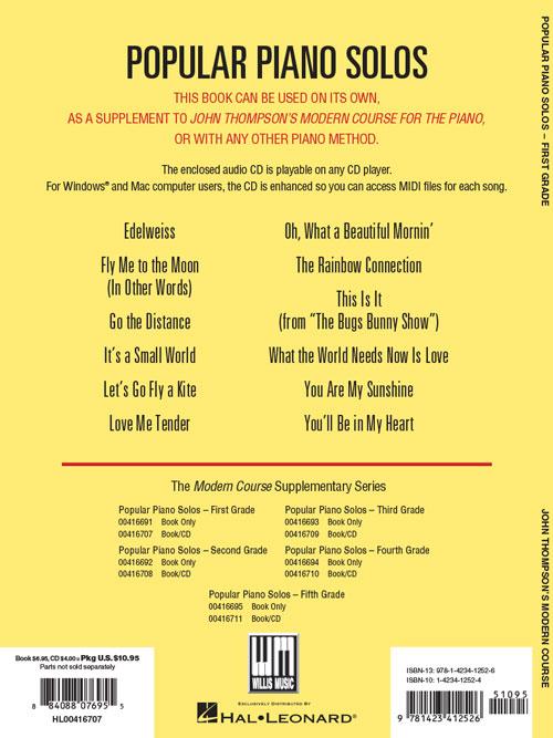 PRODUCTS   John Thompson's Popular Piano Solos – Grade 1